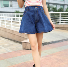 Pengpious Summer new restoring ancient ways of tall waist wide-legged pants cowboy they sound tide denim loose pants women(China)