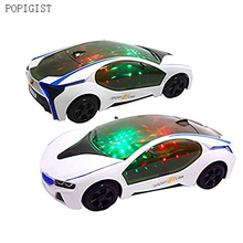 New Cool car LED Light Music Universal Electric Flash 3D Lights Children's Sports Toy Car Perfect Birthday Gifts(China)