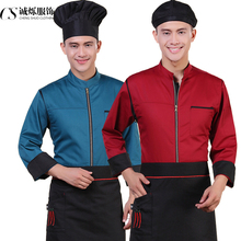 Women Chef Uniform Chef Uniform Cotton Polyester Men Hot Autumn And Winter Clothes Long Sleeved Kitchen Restaurant Clothing