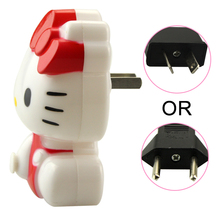 20pcs/lot New arrival hello kitty energy saving LED Night Light AC110V / 220V  Baby Bedroom Lamp  EU Plug Night lamp 1PCS