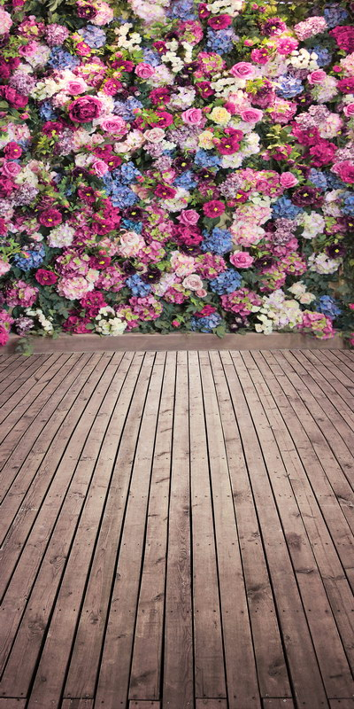 8X12ft  thin vinyl photography  backgrounds Computer Printed flowers wall Photography backdrops for Photo studio<br><br>Aliexpress
