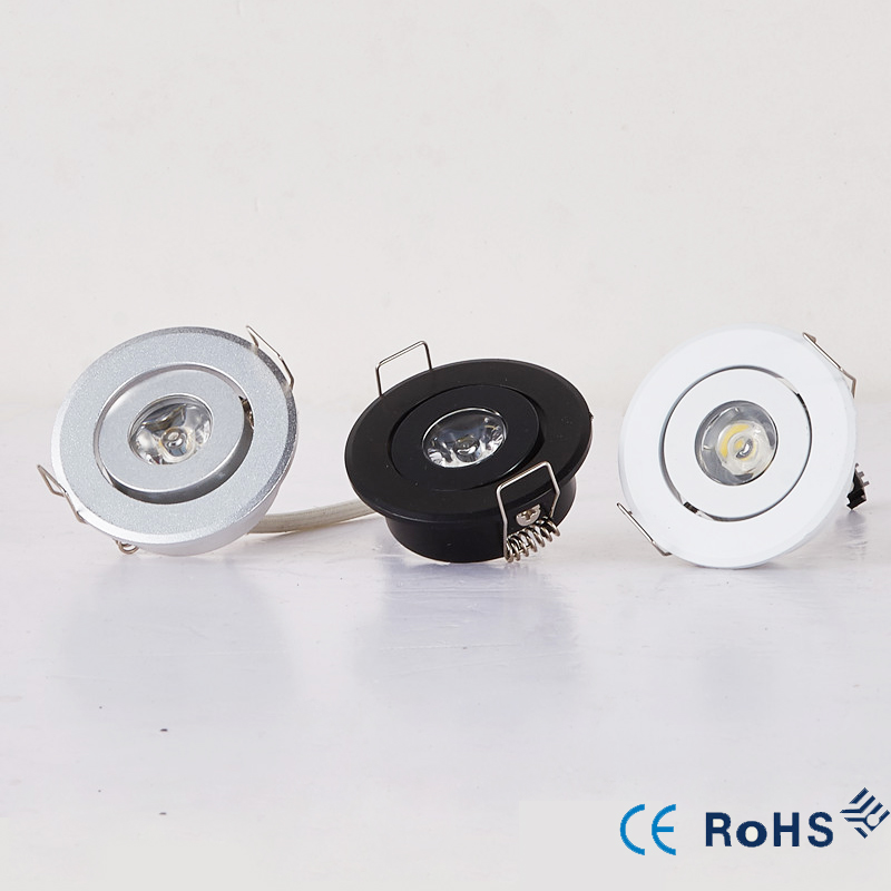 110V 220V LED Mini ceiling LED spot light lamp dimmable  3W  mini LED downlight white,black,silver Minidownlight (China)