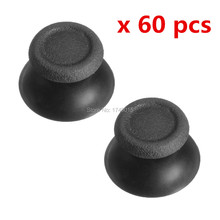 IVYQUEEN 60 pcs Black 3d Analog Thumbsticks Joystick Caps for Sony Play Station Dualshock 4 PS4 Controller Mushroom Cover(China)