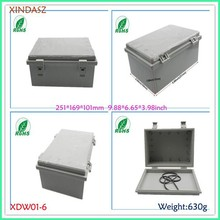 (XDW01-6) 250*170*100mm 9.88*6.65*3.98inch Large IP65 ABS Hinged Waterproof Junction Box MG Enclosure With Lock