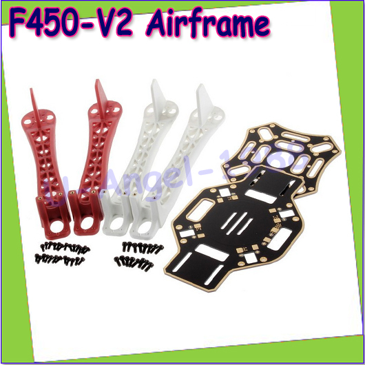 Wholesale 1pcs F450 Top Bottom Chassis F450-V2 Central Frame Landing Arm Wheel Boards Dropship<br><br>Aliexpress