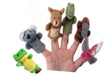 Hot New Animal Finger Puppets Plush Cloth Doll Baby Educational Hand Kids Toy Finger puppet toys for children finger toy #20(China)