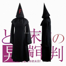 FFF GROUP Fatal Fire Fukanzenna Baka to Tesuto to Shokanju Ketsumatsu Cosplay Unisex Black Hooded Cloak Costume Robes(China)