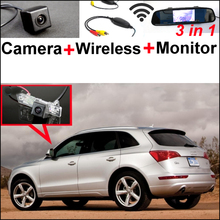 3in1 Special WiFi Camera + Wireless Receiver + Mirror Screen Easy DIY Bakc Up Parking Rear View System For Audi Q5  2008~2014