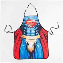 Funny Aprons Novelty Super Man Sexy Cooking Apron for Fancy Dress For Gift design lovers gift(China)
