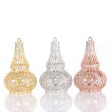 gold silver manufacturers wholesale micro insert 3A zircon Tower tassels pendant jewelry accessories beaded tassels pendant DIY