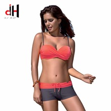 DA HAI brand 2017 new swimsuit European and American sexy high waist bikinis swimwear high waisted women swimming suit bikini(China)