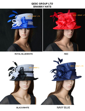 NEW Wholesale,black,royal,red,navy.Sinamay Hat Church Hat  for Kentucky Derby.wedding.party.FREE SHIPPING BY EMS,10 pcs/lot.