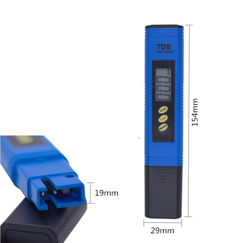 By DHL Fedex 100pcs PH Meter Digital Tester automatic calibration+ Water Quality Purity TDS Tester with Titanium alloy probe 16% 8