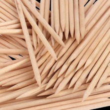 100PCs Wooden Sticks Nail Cuticle Pusher Stick Two Way Orange Wood Stick Nails Pusher Polish Remover Manicure Nail Care Tools(China)