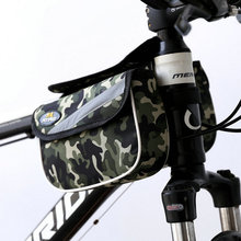 Buy 2L Waterproof Mountain Bike Cycling Front Tube Frame Bag Double Side Phone Pouch Bicycle Bags Panniers Reflective Stripe for $7.43 in AliExpress store