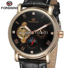 FSG800M3R1 Branded name Forsining men Automatic fashion business watch with moon phase original gift box free shipping(China)