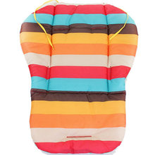 Waterproof Baby Stroller Cushion Cover  Pad Pram Padding Liner Car Seat Pad Rainbow General Cotton Thick Mat Free Delivery