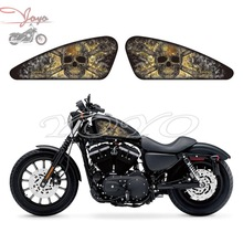 Smoke Skull Graphics Fuel Tank Decals Stickers For Harley Sportster XL 883 1200 X/V/R/N/L/C XR1200 Iron Forty Eight Seventy Two