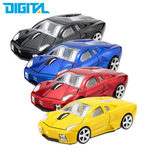 Hot Sale 3D Wireless Mouse Sports Car Shaped 2.4Ghz Optical Mouse Mice 1000DPI For PC Laptop Computer