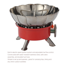 2017 New Outdoor Camping Lotus Gas BBQ Tools Stove/ Burners With Electronic Ignition Windproof Grills