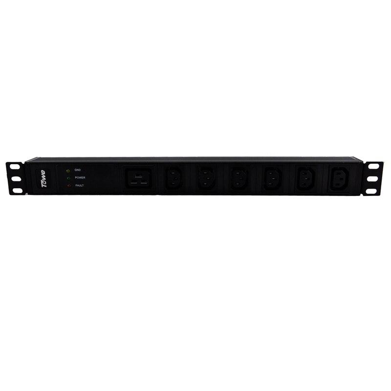 TOWE EN16/I705S 16A 7 WAYS IEC320 C13 PDUs Cabinet socket  Power distribution Unit WITH SPD<br>