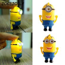 Minions baby toy New Light Sound Doll Key Ring minions Despicable Me 3D Mini Minions LED Keychain Kids Children Toys ZZZ WYQ