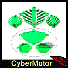 Green Motorcycle Cam Cover Valve Cap Dress Up Kit  For Chinese YX 160cc 1P60FMK 150cc 1P60FMJ Engine Pit Dirt Motor Bike