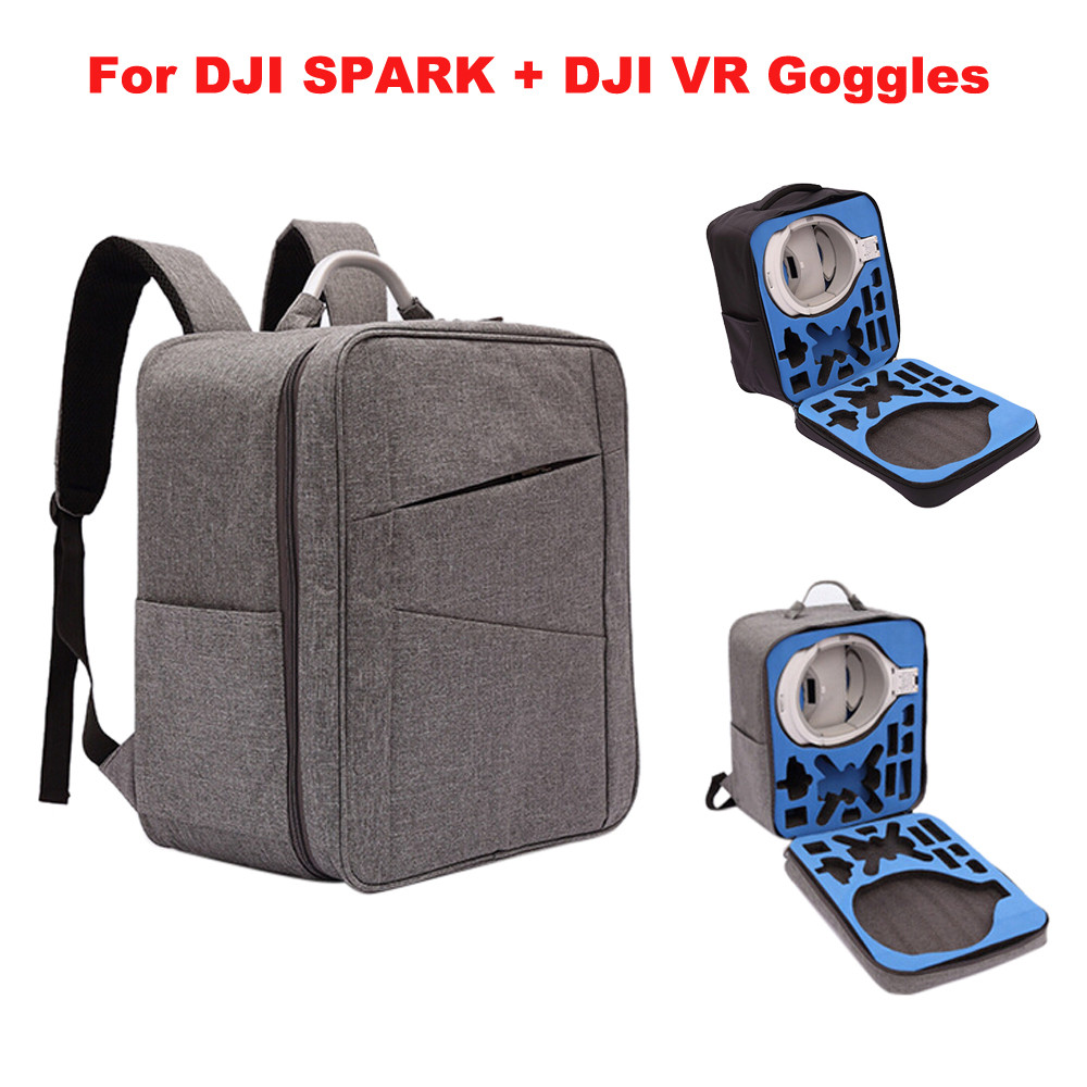 Outdoor Waterproof case Shoulder Backpack Bag For DJI Spark Drone and DJI VR Goggles NEW Accessories Pro Factory Price Drop Ship