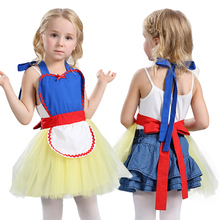 2017 New Summer Baby Girls Apron Cotton Dress vestido princesa snow white baby Kids cosplay Show costume children Apron dresses
