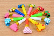 Small Multi Color Party Blowouts Whistles Kids Birthday Party Favors Decoration Supplies Noicemaker(China)