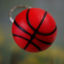 Wholesale 60pcs/lot Jewelry Basketball cell phone accessories basketball keychain key chain ring small gift(China)