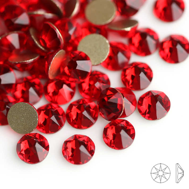 Light siam New Cut Facets 8 big 8 small SS16 SS20 Non Hotfix Rhinestones  for Clothing 39251538483d