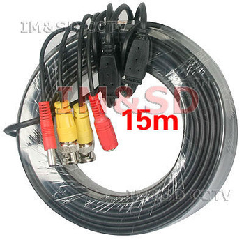 BNC 15M Power Video Plug and DC Power Cable for CCTV Camera<br><br>Aliexpress