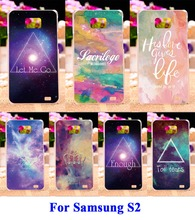 Hard Plastic and Soft TPU Cell Phone Bags For Samsung Galaxy SII I9100 S2 Cases DIY Painted Star Sky Painted Mobile Phone Covers
