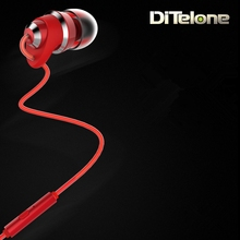 Remax RM-585 Earphones 3.5mm Plug In Ear Portable Wired Music Headset With MIC for iPhone Samsung White/Pink/Black/Red