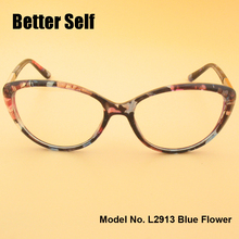 L2913 Full Rim Spectacles Beauty Eyewear PC Optical Eyeglasses Metal Decorate Optics Myopia Cat Eye Glasses Frames(China)