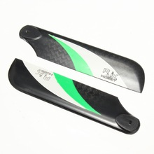 1 Pair RJX Vector Green White 68mm Tail Carbon Fiber Blades for 470 Helicopter Version B For RC Helicopter Parts Accessories(China)