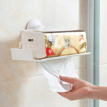 Sucker toilet paper racks bathroom free perforated rack toilet paper towel rack pumping frame(China)
