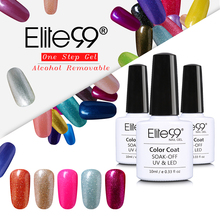 Elite99 Perfect Alcohol Removable One Step Nail Polish Gel 3 in 1 UV LED Soak off Long Lasting Gel Polish Nail Art Varnish 10ml