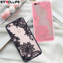 Buy STROLLIFE Sexy Lace Flower Phone Cases iPhone 8Plus case Retro Mandala Floral Clear Back Cover iphone 8 8Plus Capa Coque for $1.32 in AliExpress store