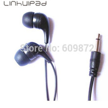 Linhuipad 5 pcs/lot disposable & Cheapest MONO Earphones hospitals airlines prisons 1.8M cord 3.5mm mono Free shipping