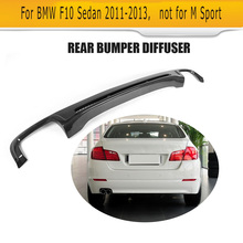 5 Serie Carbon Fiber Car Rear Bumper Lip Spoiler Diffuser For BMW F10 Sedan Standard original Bumper 11-13 Four outlet Non Sport