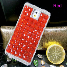 Luxury Diamond Style Phone Cover for Samsung Galaxy J5/J7 2016 Bling Crystal Squares Phone Case For Samsung Galaxy J3 2016