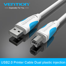 Vention USB 2.0 Printer Cable Type A Male To B Male To Male Sync Data Charger Cable For Camera Scanner 5m1m USB Printing Cable(China)