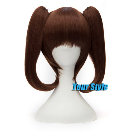 Cheap Japanese Seven Deadly Sins Diane Wig Cosplay Brown Short  Straight Hair Two Clips on Ponytails Perruque Peluca<br><br>Aliexpress