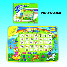 Russian Language musical carpet tapete de atividades de bebes baby toy play mat 70*50cm(China)
