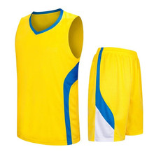 High Quality Throwback Basketball Jersey Set Breathable Custom blank team cheap basketball jerseys LD-8080(China)