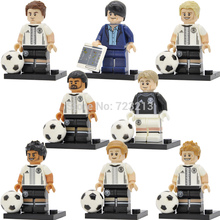 Germany National Football team Figure Mario Gotze Mats Max Sami Andre Manuel Coach Joachim Loew Building Blocks Bricks Toys(China)