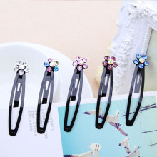 New Fashion Beauty Plum Crystal Black Hair Clip Elegance Barrettes Headbands For Women Hair Pins Girls Hairgrip Hair Accessories