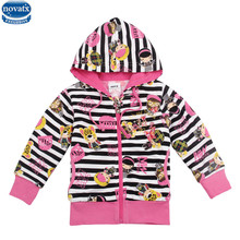 novatx F3471 2017 kids baby girl clothes fashion jacket cheap sale hooded zipper floral warm girl coat retail girl clothing coat(China)